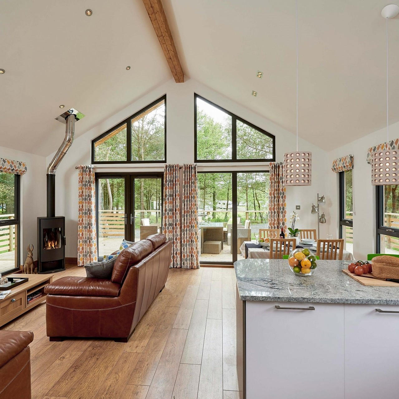 Open Plan Woodland Lodge
